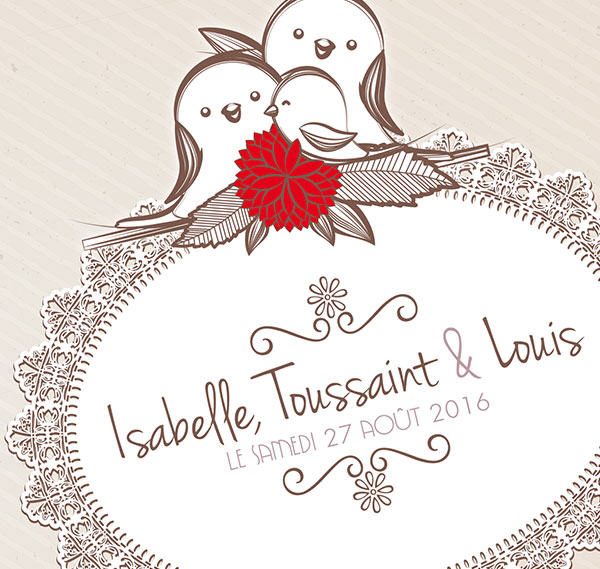 Faire-Part Isabelle et Louis