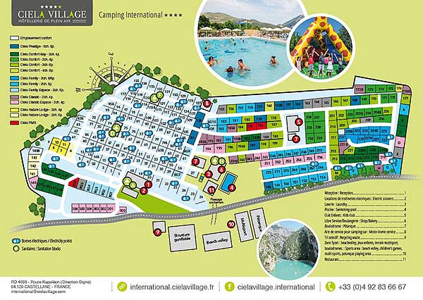 Plan du Camping International - Castellane(13)